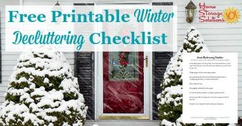 Free printable winter decluttering checklist
