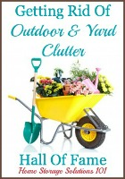getting rid of outdoors and yard clutter hall of fame