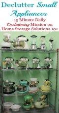 Declutter Small Appliances