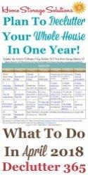 April Declutter Calendar