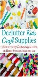 Declutter Kids Craft