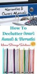 How To Declutter Manuals And Warranties