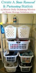 Create A Pretreating & Stain Removal Station