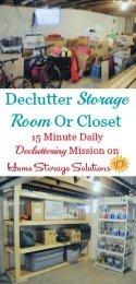 Declutter Storage Room