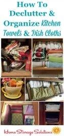 Declutter Kitchen Towels & Dish Cloths