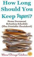 Home Document Retention