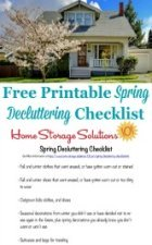Free Printable Spring Decluttering Checklist