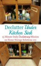 Declutter Under Kitchen Sink