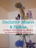Declutter Shower & Bathtub