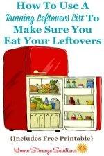 Storing & Eating Leftovers