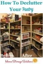 How To Declutter Pantry & Food Cupboards