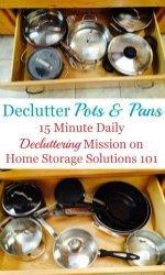How To Declutter Pots & Pans