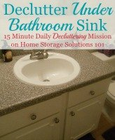 Declutter Under Bathroom Sink Cabinets