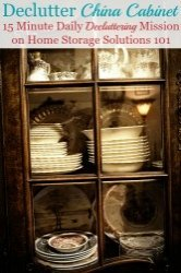 Declutter China Cabinet