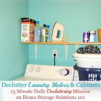 Declutter Laundry Shelves