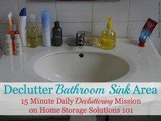 Declutter Bathroom Sink Area