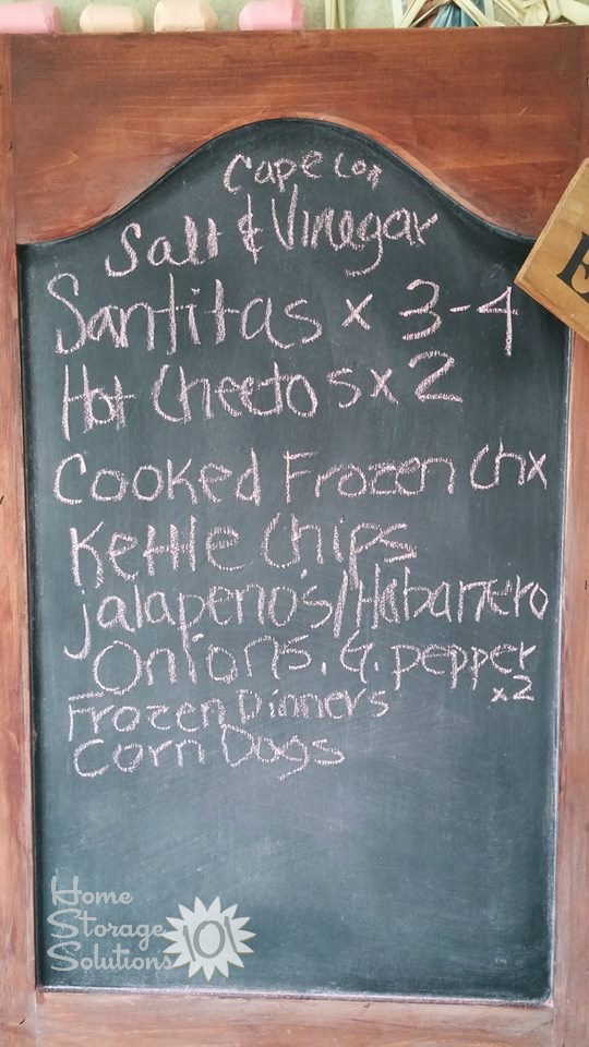 Use a chalkboard to make a grocery list, and then take a photo of it before you leave for the store!