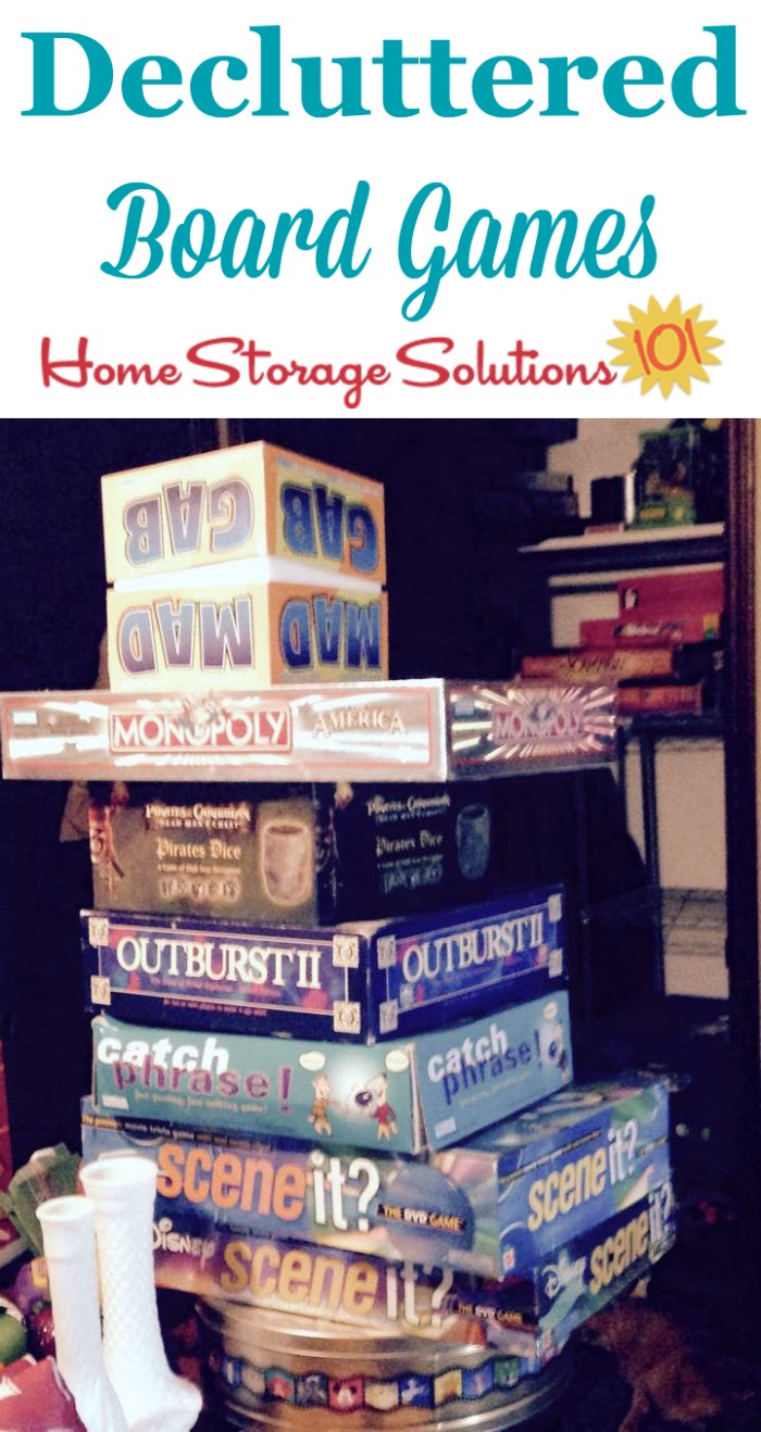 Board games that will be decluttered {part of the #Declutter365 missions on Home Storage Solutions 101}