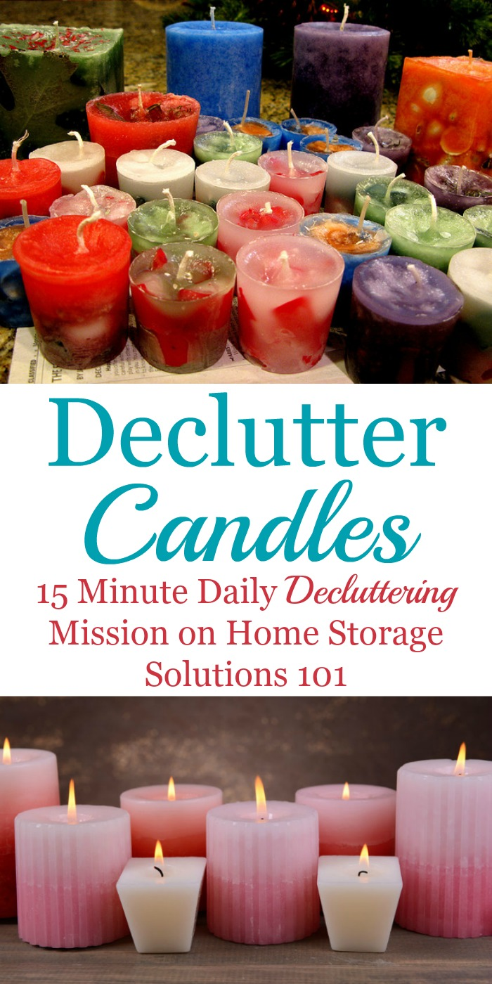 How to declutter candles from your home {part of the #Declutter365 missions on Home Storage Solutions 101}