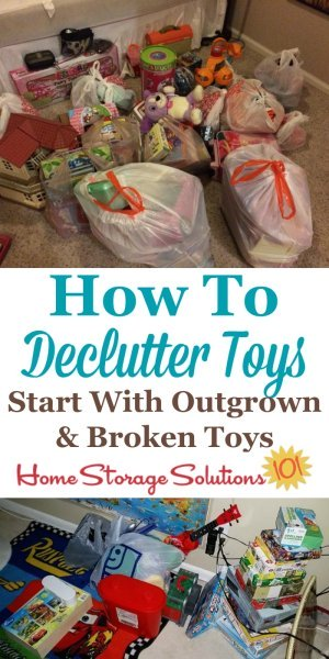 How to declutter toys, including which toys to start with first {on Home Storage Solutions 101}