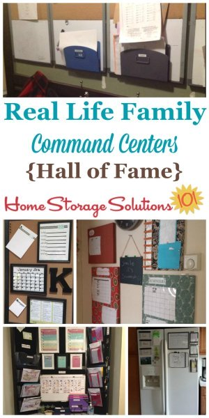 Real life examples of family command centers and home message boards {on Home Storage Solutions 101} #CommandCenter #MessageCenter #HomeOrganization