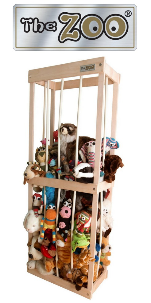 The Zoo: Stuffed animal storage solution {featured on Home Storage Solutions 101} #StuffedAnimalStorage #StuffedAnimals #KidsStorage