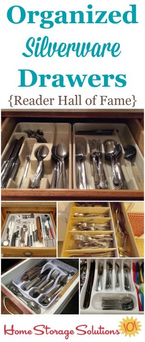 Organized silverware drawer hall of fame on Home Storage Solutions 101, showing readers who've taken on the declutter and tidy your silverware drawer mission.