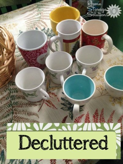 Coffee cups and mugs that Brandy decluttered as part of the #Declutter365 missions on Home Storage Solutions 101