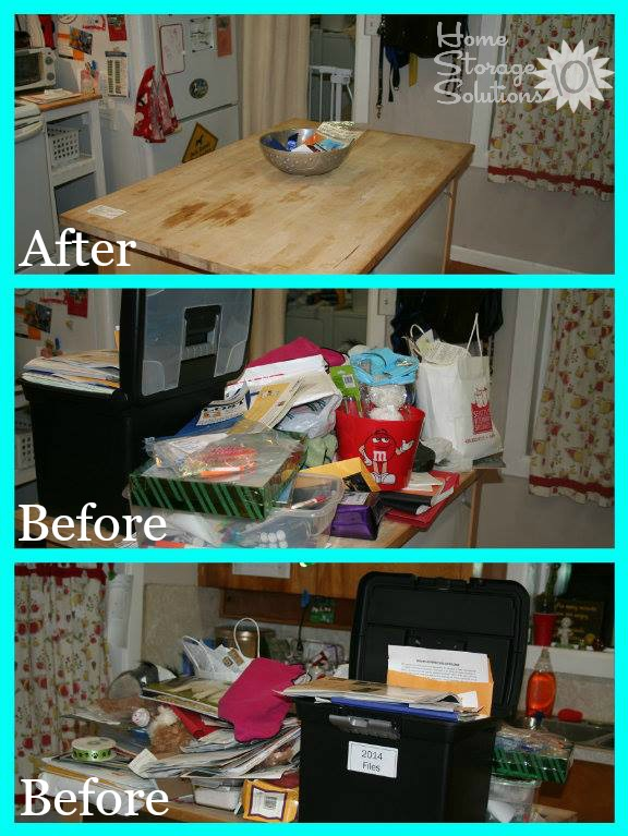 How To Declutter Your Kitchen Island {And Keep It That Way}