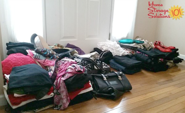 Getting rid of clothing clutter to leave behind only clothes that still fit {featured on Home Storage Solutions 101}