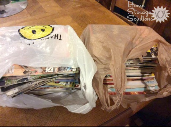 Sandra donated her old magazines to a teacher who could use them in her classroom {featured on Home Storage Solutions 101}