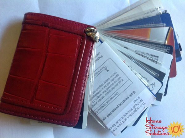 Dee Dee uses the Brighton Twister photo album not for photos, but to organize gift and loyalty cards in her purse {featured on Home Storage Solutions 101}