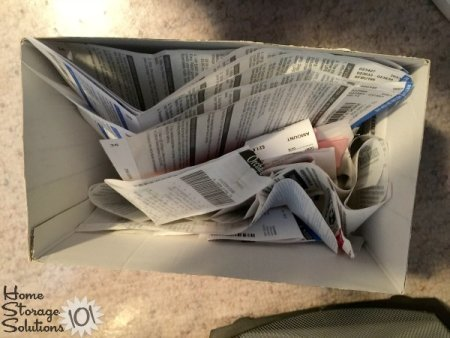 Decluttered several weeks worth of receipts {featured on Home Storage Solutions 101}