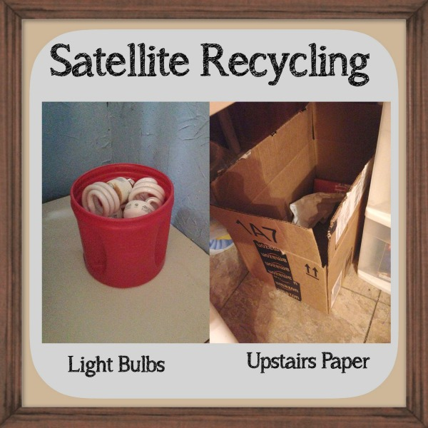 Adding small recycling containers to areas of your home that need one {a 15 minute #Declutter365 mission on Home Storage Solutions 101}