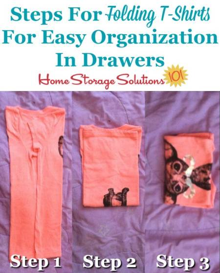How to Fold Clothes - Organization Tips to Save Space | 558x450