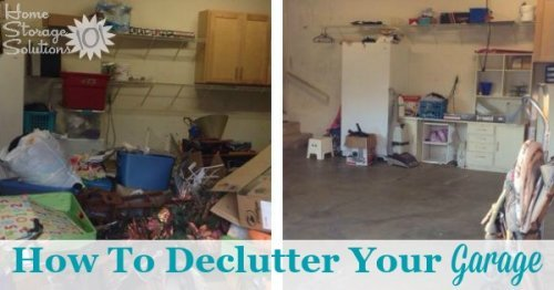 How to declutter your garage without making a bigger mess in the process, with step by step instructions {on Home Storage Solutions 101}