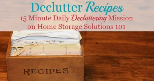 How to #declutter recipes, with step by step instructions and before and after photos from readers who reduced their recipe #clutter using the #Declutter365 mission {on Home Storage Solutions 101}