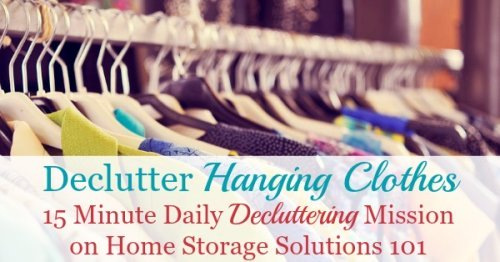 How to declutter your closet of excess hanging clothes, including tips for what clothes to choose, why this important, and before and after pictures from others who've done the mission to get you inspired {on Home Storage Solutions 101}