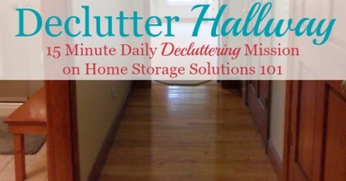 How to get rid of your hallway clutter 15 minutes at a time, plus pictures from other readers who've done this #Declutter365 mission {on Home Storage Solutions 101}