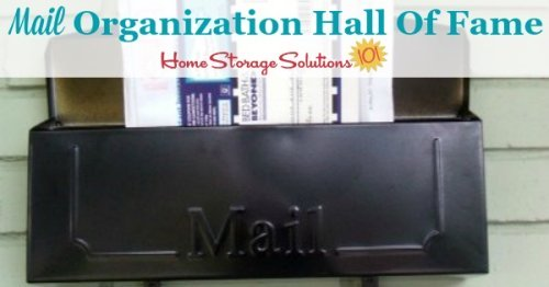 Real life examples of how people organize and keep track of their incoming and outgoing mail {part of the mail organization challenge on Home Storage Solutions 101}