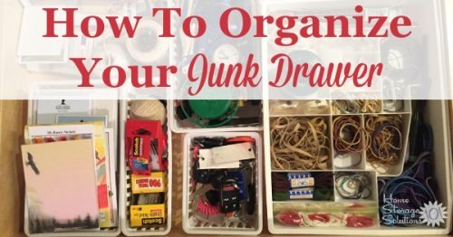 How to organize your junk drawer, with lots of real life examples from those doing the #Declutter365 missions on Home Storage Solutions 101