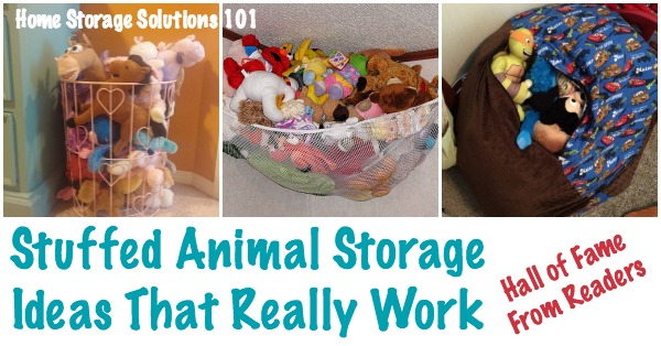 Stuffed animal storage ideas that really work! Hall of Fame from Home Storage Solutions 101 ... & Storage For Stuffed Animals: Ideas That Work