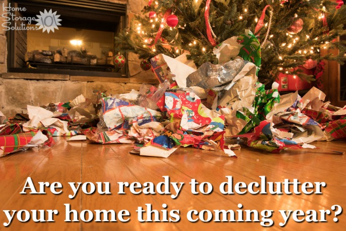 Christmas is often when people decide they want to get rid of excess clutter in their homes, and if you're ready make sure to do the #Declutter365 missions to accomplish your goal! {on Home Storage Solutions 101}