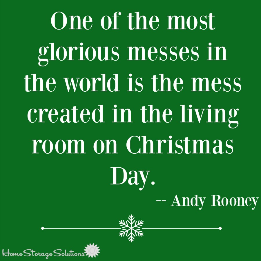 One of the most glorious messes in the world is the mess created in the living room on Christmas day. Enjoy it fully, and then learn how to clean it up! {on Home Storage Solutions 101}