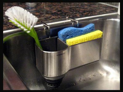 do you have a problem with people leaving a wet sponge at the bottom of the sink where it stays wet and absorbs all kinds of nasty stuff as people dump - Kitchen Sink Problem