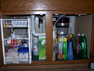 Adding Rolling Tiered Baskets Transforms The Space Under The Sink