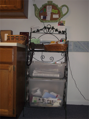 Picture 3: Paper recycling in kitchen