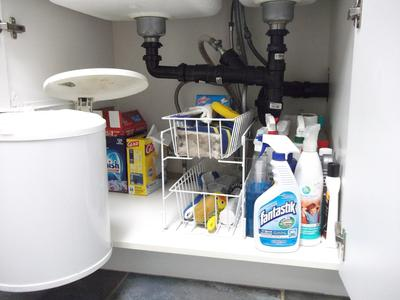 Under Kitchen Sink Cabinet how to declutter under your kitchen sink cabinet