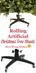 Rolling Artificial Christmas Tree Stand