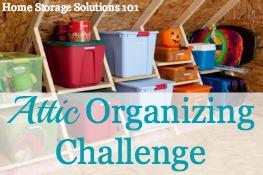Attic Organizing